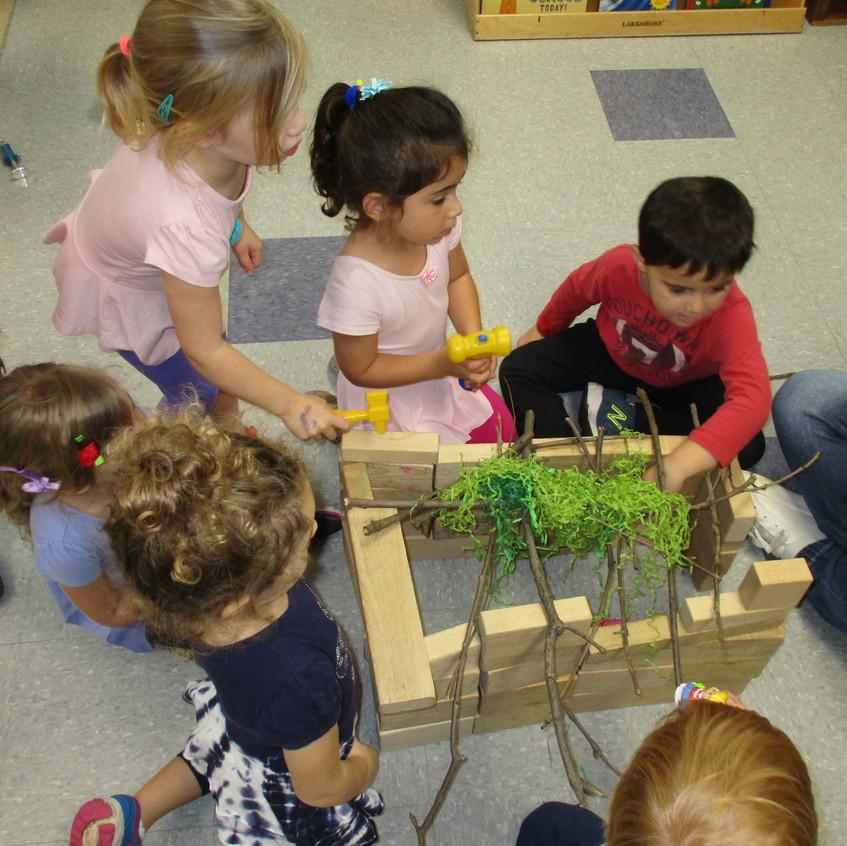 Building a play sukkah