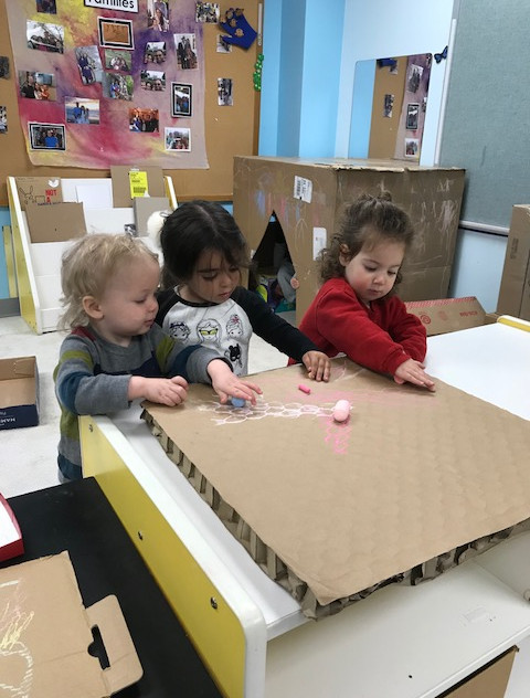 Decorating cardboard