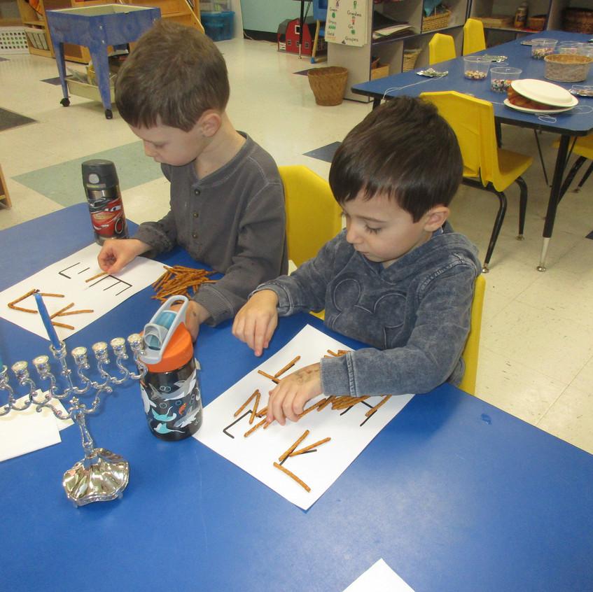 Hebrew letter snack