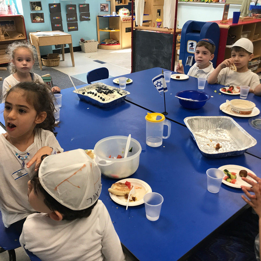 Israeli snack and birthday cake