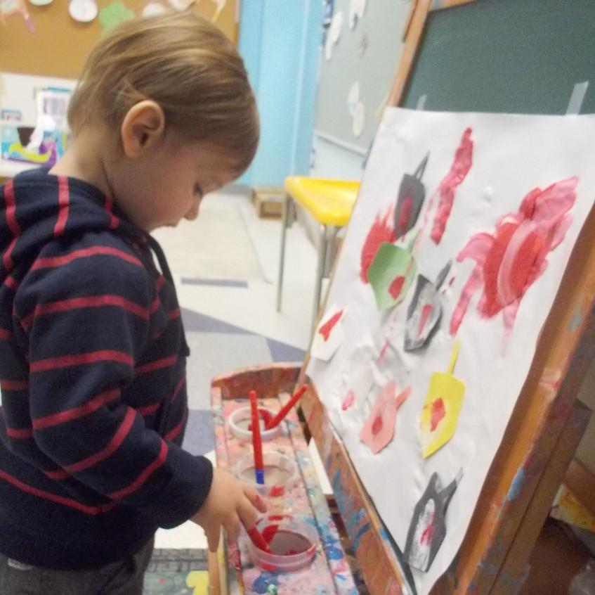 Painting dreidels