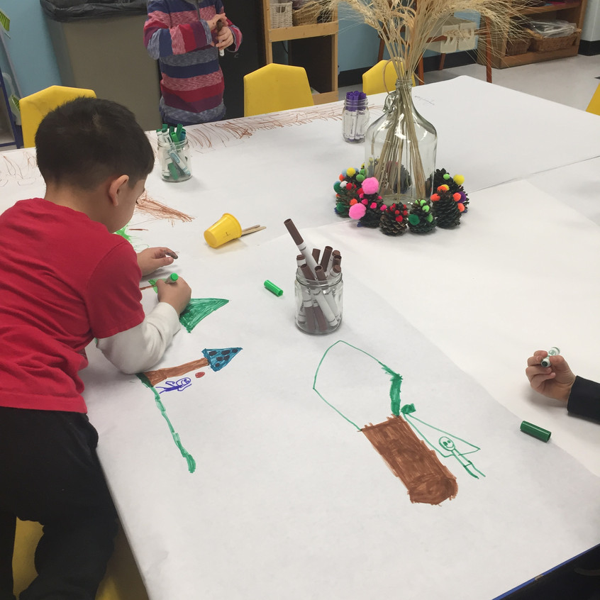Decorating for Tu B'Shevat seder