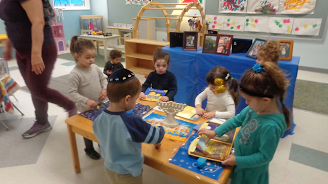 Chanukah provocation table
