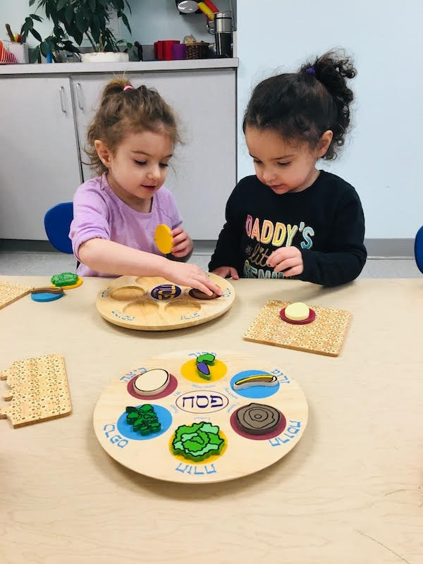 Learning about the seder plate