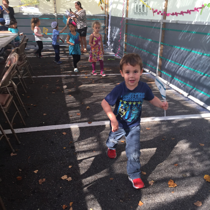 Parade in the sukkah