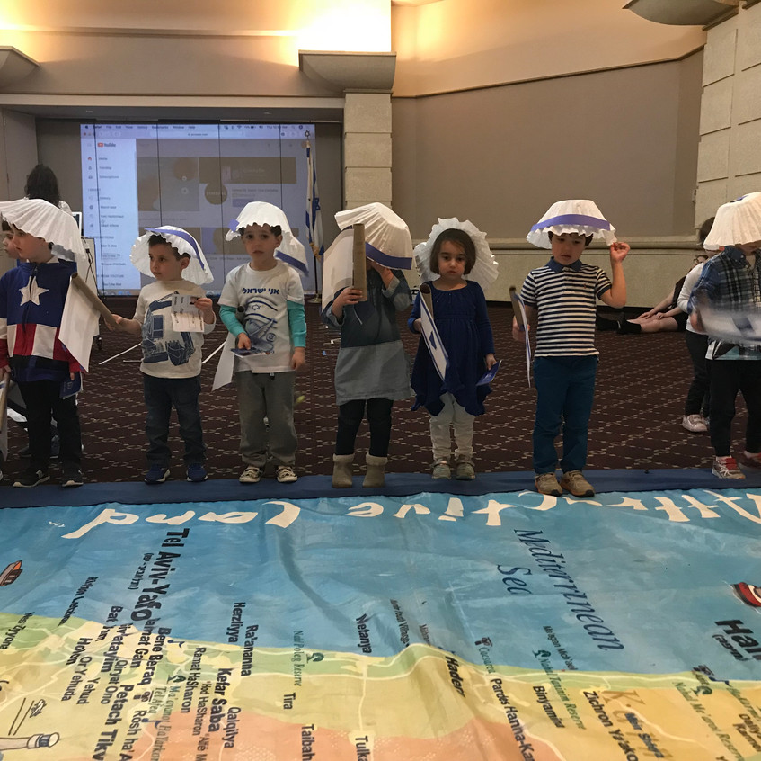 Wearing sunhats for our visit