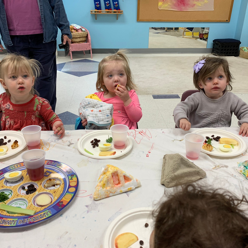 Toddler Pesach tasting