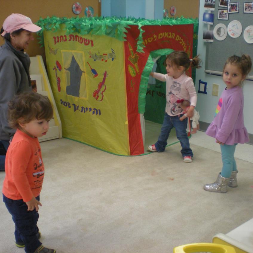 Sukkah playtime