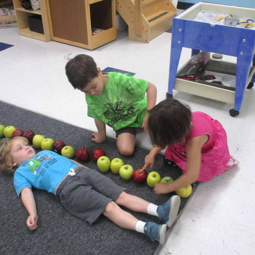 Measuring with apples