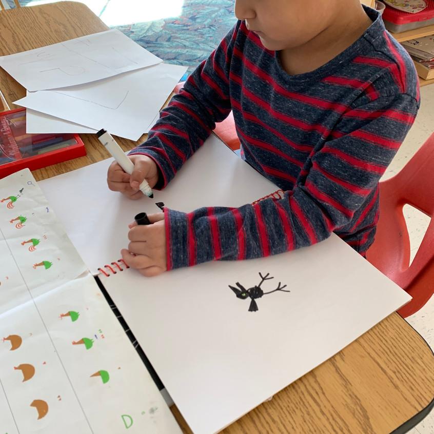 Drawing spring animals
