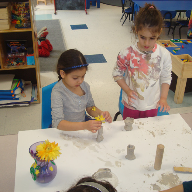 Working with clay for Pesach decor