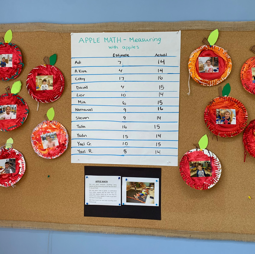 Estimating our height in apples