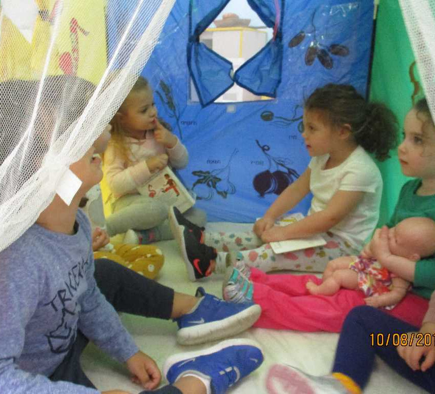 Hanging with friends in the Sukkah
