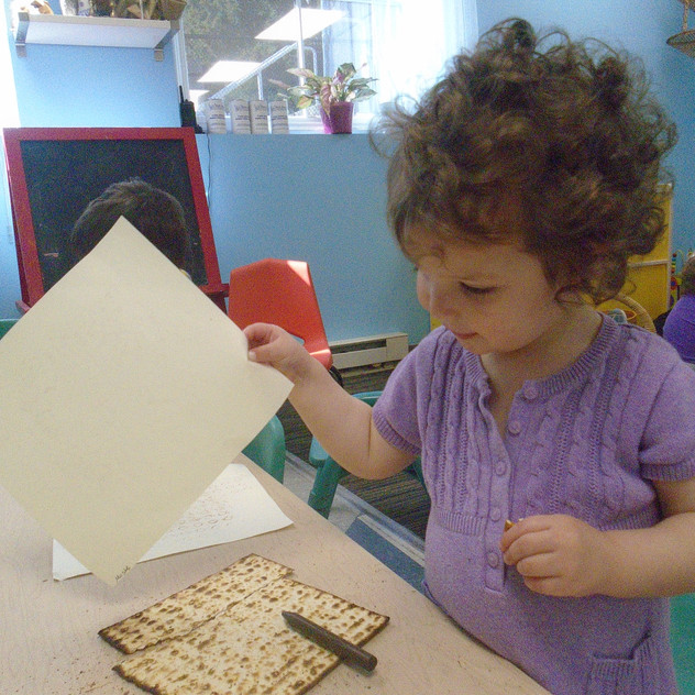 Making matzah rubbings