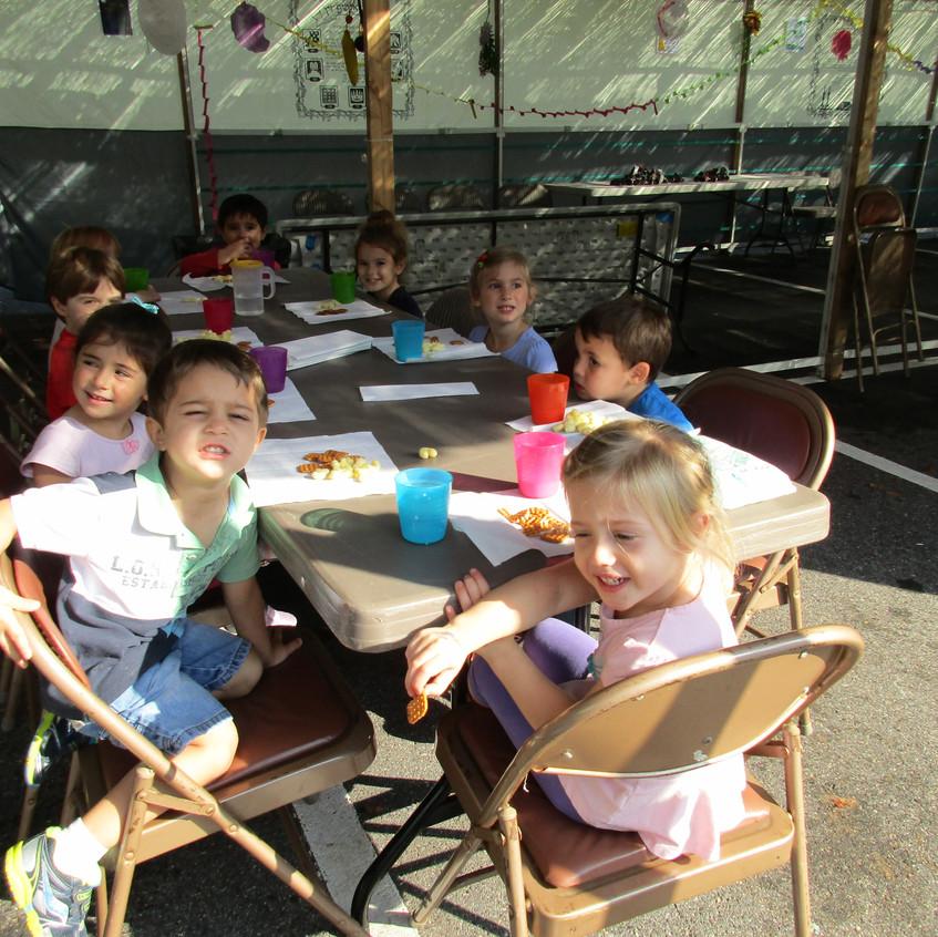 Snack in the sukkah