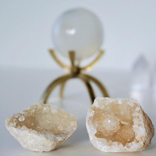 Clear Quartz Golden Fairy Cave
