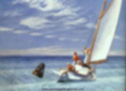 Edward Hopper, cat-boat dans la vague