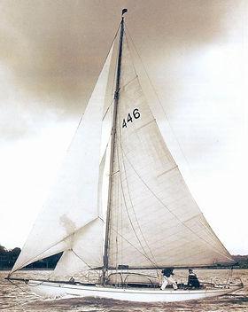 Le cotre AÏleena, plan Alfred Mylne 1899