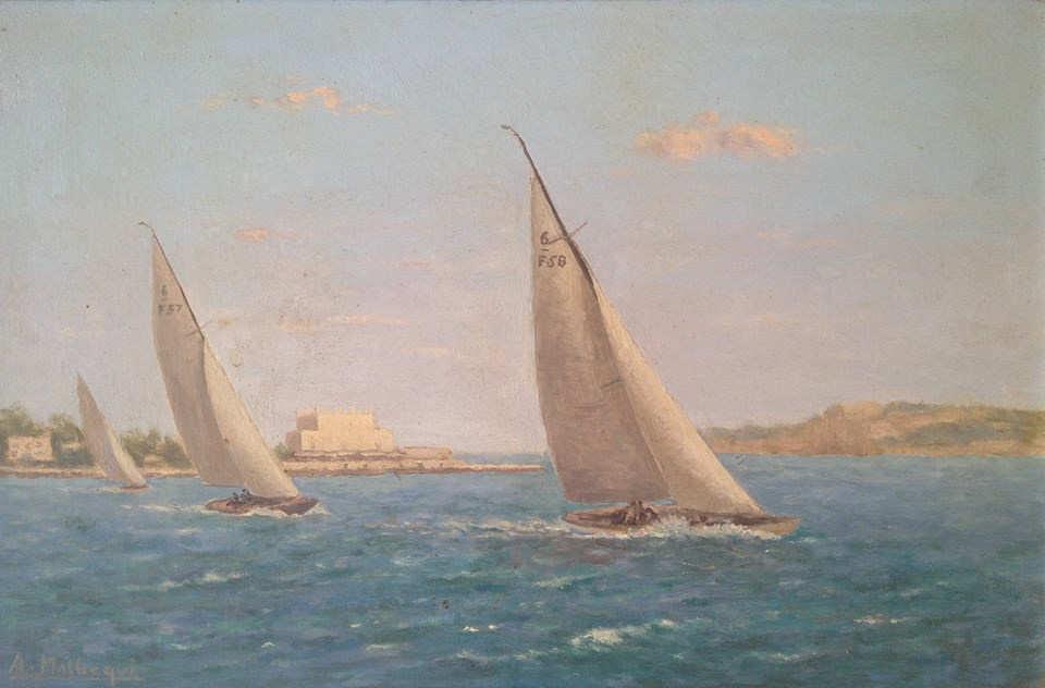 Deux 6mJI de François Camatte en baie de Cannes