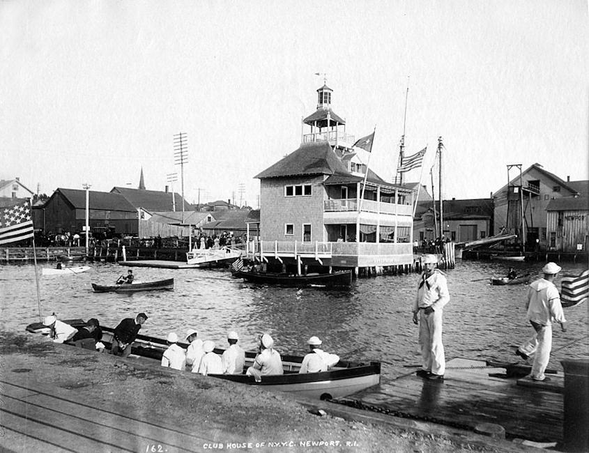 Le New York Yacht Club à Newport, Connecticut en 1890