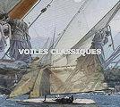 Page d'accueil du site. Moonbeam III croise devant Nan, au premier plan le 3 tonneaux Calypso