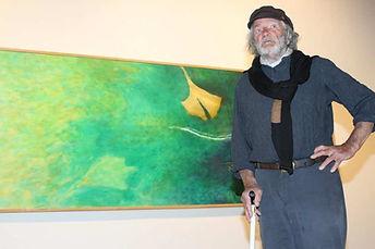 Yvon Le Corre lors de sa dernière exposition