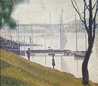Seurat peint le Pont de Courbevoie