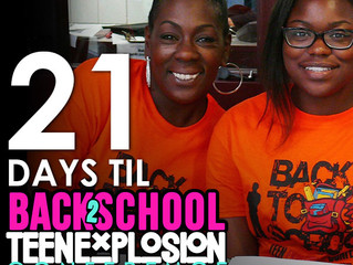 Three Weeks Until Annual Back-to-School Teen Explosion Conference