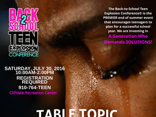 Teen Cafe' Table Topic on Police Brutality