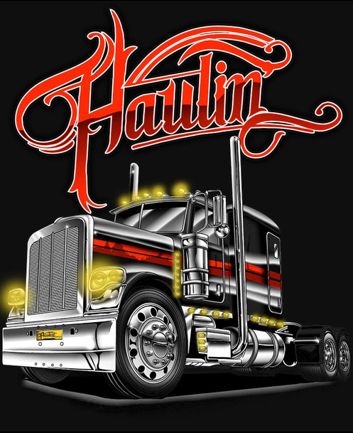 6ad2e3561 HAULIN PETERBILT T SHIRT
