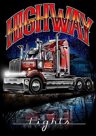 Haulin Apparel ''Highway Lights'' T -Shirts