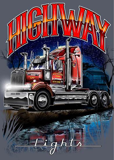 Haulin' Apparel ''Highway LIghts'' T - Shirt Gray