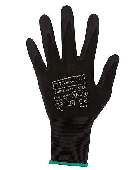 PREMIUM BLACK NITRILE BREATHABLE GLOVE 12 PACK