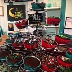 GF chocolate ganache cupcakes