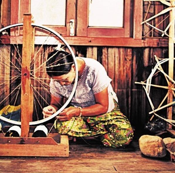 #silk and #lotus weaving factory #floati