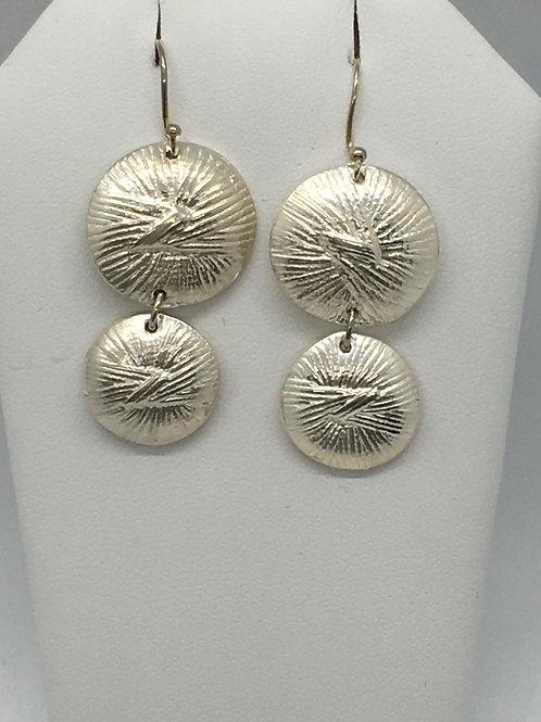 Knot Button (double) Earrings