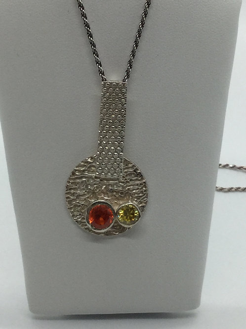 Two Texture Round Bar Pendant