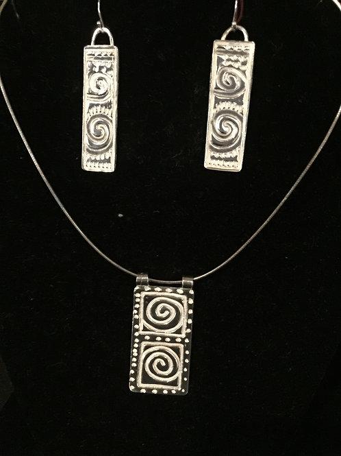 Aztec Design Pendant