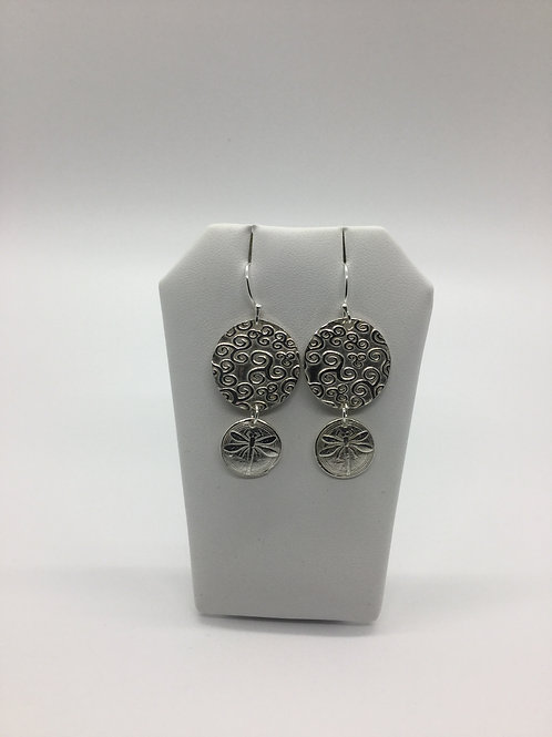 Double circle dragonfly Earrings