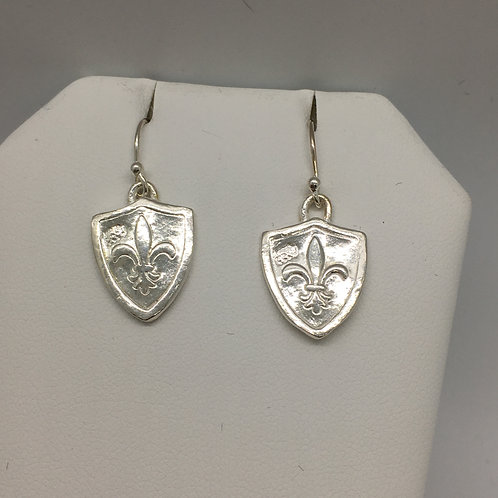 Round Fleur de Lis  Earrings