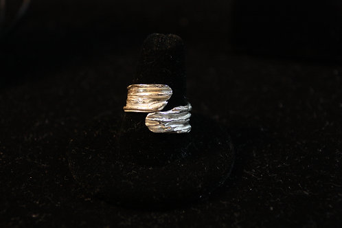 River Texture Wrap Ring