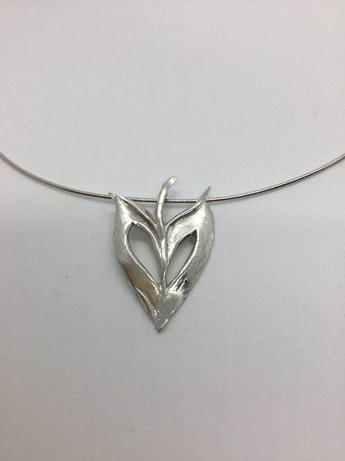 Leaf (heart shaped) with cut out Pendant