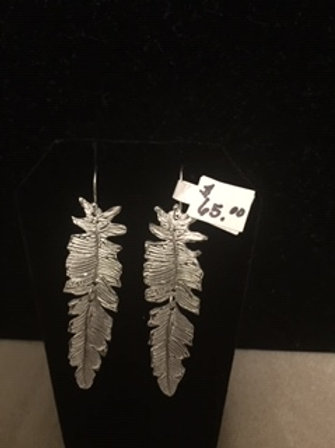 Moveable Feather Earrings