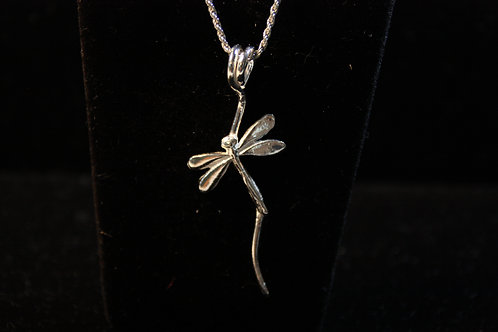 Free flowing Dragonfly on coil Pendant