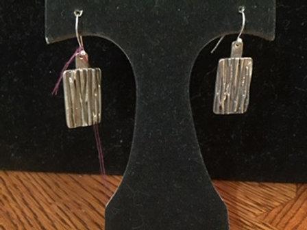 River Texture Rectangle Earrings