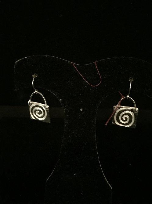 Aztec Single Drop Earrings
