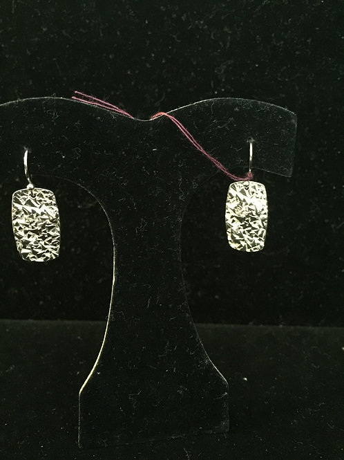 Foil Texture Rectangular Earrings