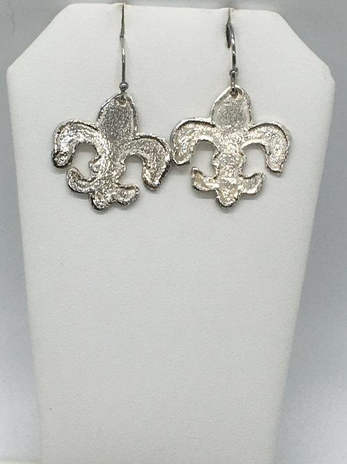 Fleur de Lis Foam texture Earrings