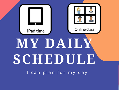 A Visual Schedule Giving Predictability and Teaches Time Concept | FREE Printable