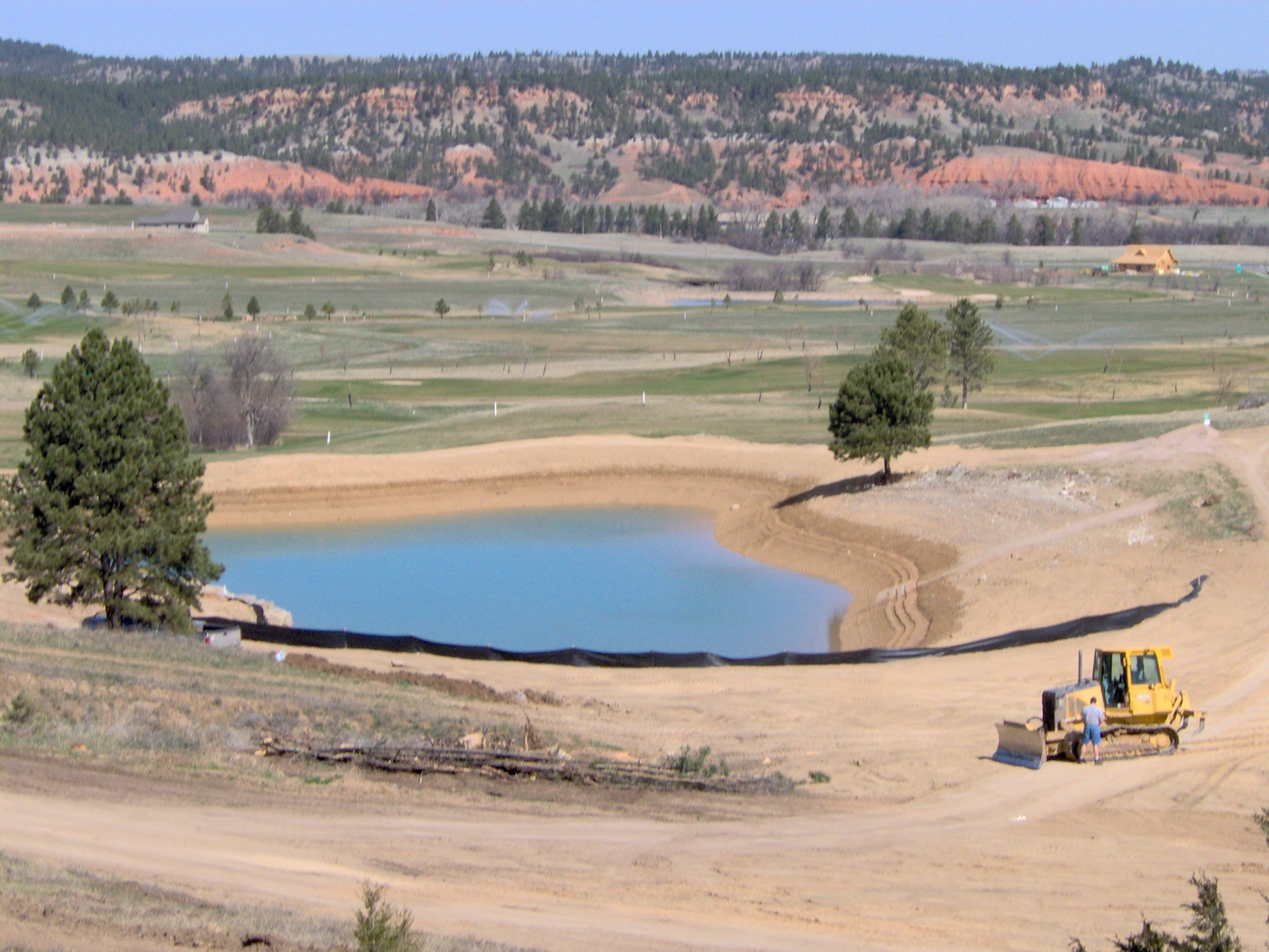 HDPE lake liner, Wyoming